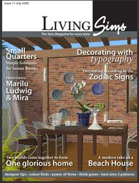 LivingSims - miniature magazines you can place in Sims' homes