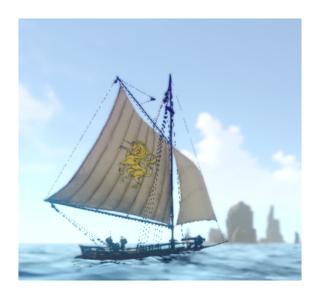 Guild member's boat