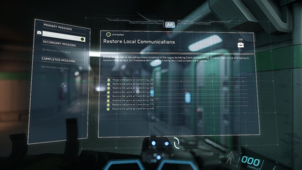 Mission List on MobiGlas